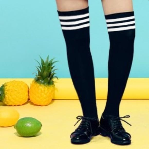 Accessories - Thigh High Black Knee-Hi Stockings